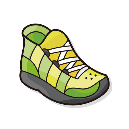 running shoes: Running shoes doodle Illustration