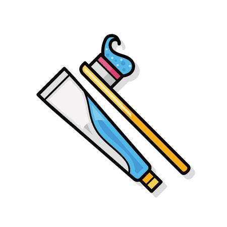 dientes sanos: Cepillo de dientes del doodle