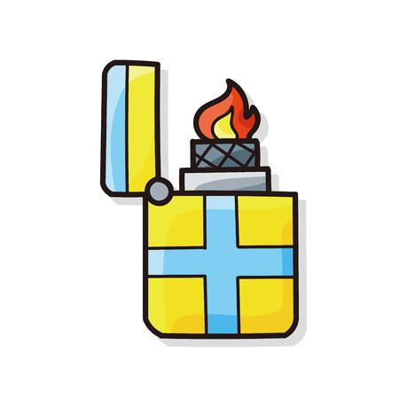 ljusare: Lighter doodle Illustration