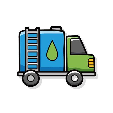cargo truck: cargo truck doodle Illustration