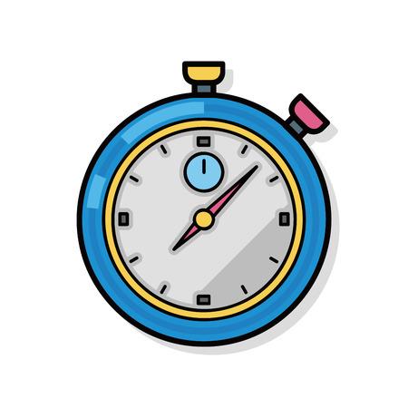 stopwatch doodle  イラスト・ベクター素材
