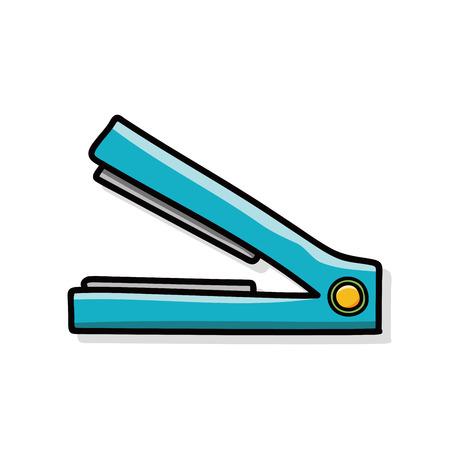 hairspray: straightener doodle Vectores