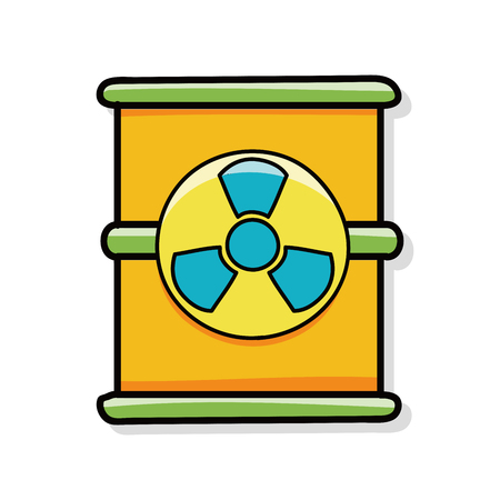 atomkraft: nuclear power doodle Illustration