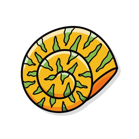 sea animal: sea animal shell doodle