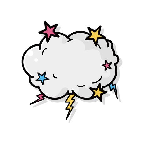 climas: doodle de la nube del tiempo
