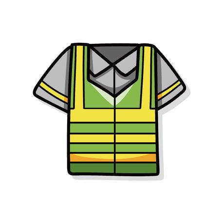 reflective: Reflective vests doodle