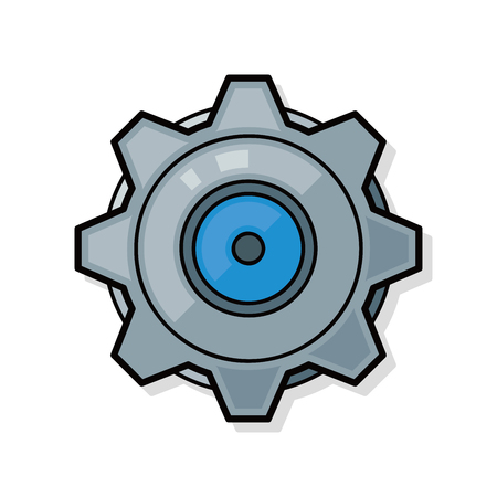 Gear doodle Иллюстрация