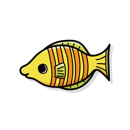 sea animal: sea animal fish doodle