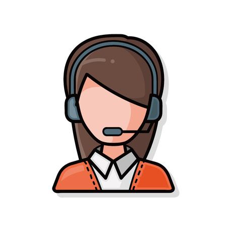customer service doodle Illustration