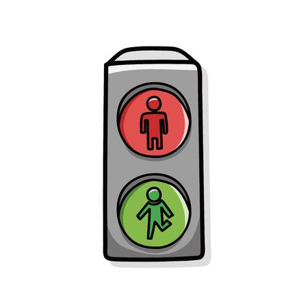 교통 신호등 낙서