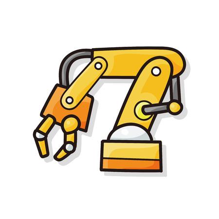 excavating: Backhoes doodle