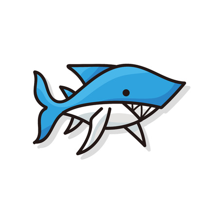 sea animal: sea animal shark doodle Illustration