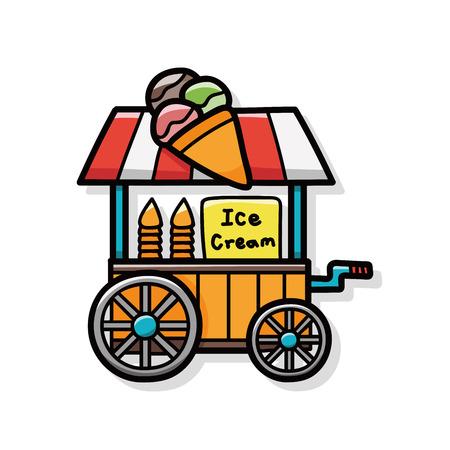 vendor: shop vendor doodle Illustration