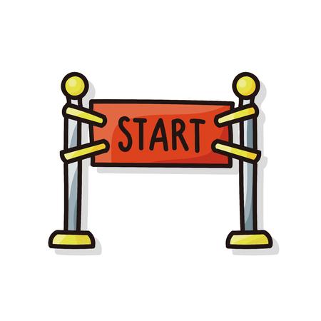 start line doodle