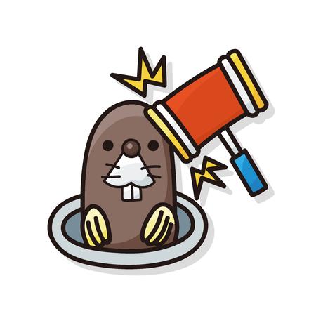 Whack-a-Mole doodle  イラスト・ベクター素材
