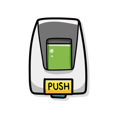 moisturizing: hand lotion machine doodle Illustration