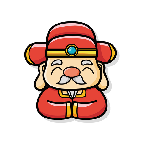 Chinese New Year God of wealth doodle