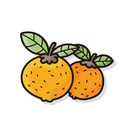 mandarin: Chinese New Year Mandarin Oranges doodle