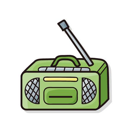 old radio: radio doodle