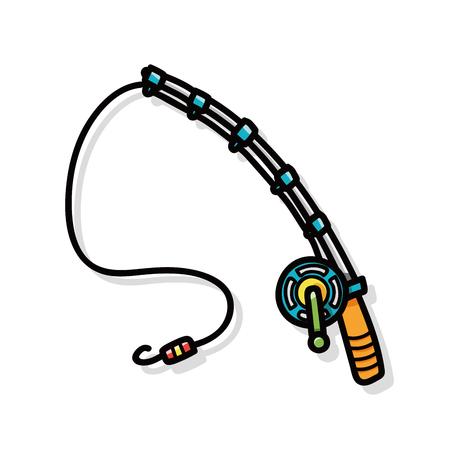Fishing rod doodle 일러스트