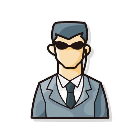 guardaespaldas: Garabato Guardaespaldas Vectores