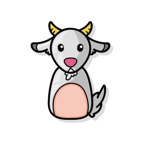 cabra: Cabra china del doodle del zodiaco