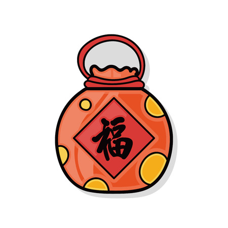 talismán: Garabato talismán chino Vectores
