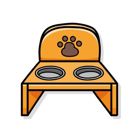 dog pen: pet bowl doodle