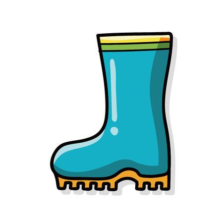 botas de lluvia: Botas de lluvia del doodle