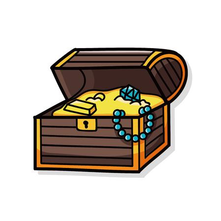 cofre del tesoro: doodle del tesoro