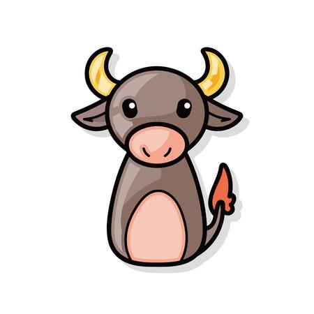China doodle de buey del zodiaco