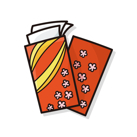 red envelope: Chinese New Year red envelope doodle