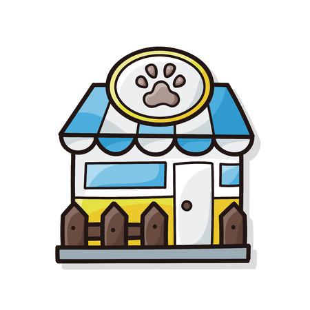 simple store: pet store doodle