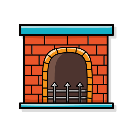 fireplace: Fireplace doodle Illustration