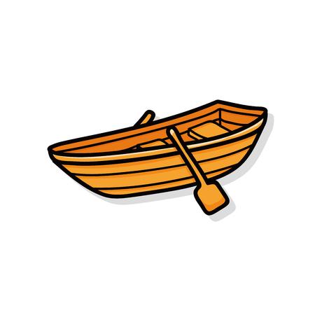 fishing boat doodle