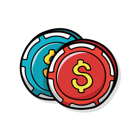 chip: casino chip doodle
