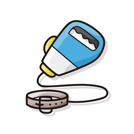 collarin: Mascota del doodle de la cuerda del collar