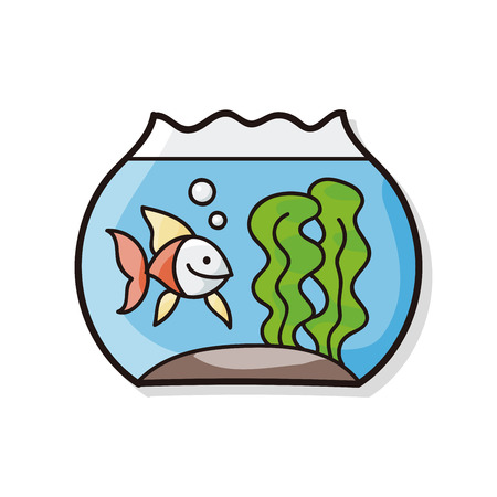 lowbrow: fish bowl doodle Illustration
