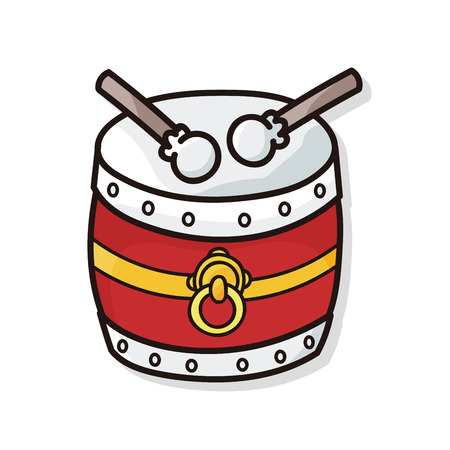 chinese drum: chinese drum doodle