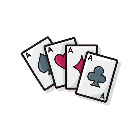 ace of diamonds: poker card doodle