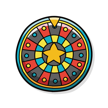 wheel of fortune: Roulette doodle