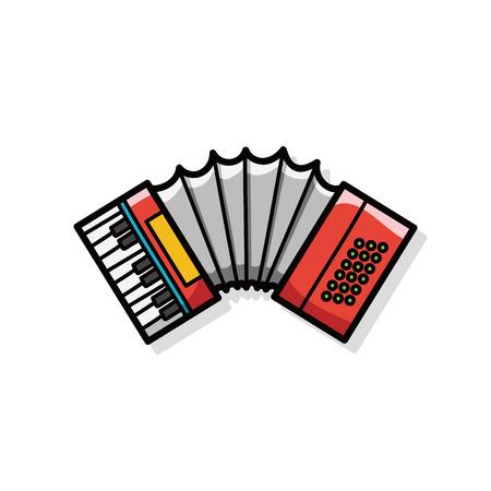 accordion: musical instrument Accordion doodle
