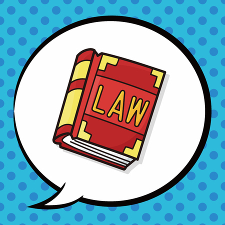 law book: law book doodle, speech bubble