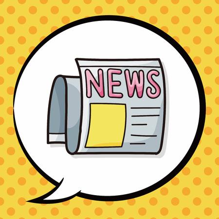 article: newspaper doodle, speech bubble Illustration