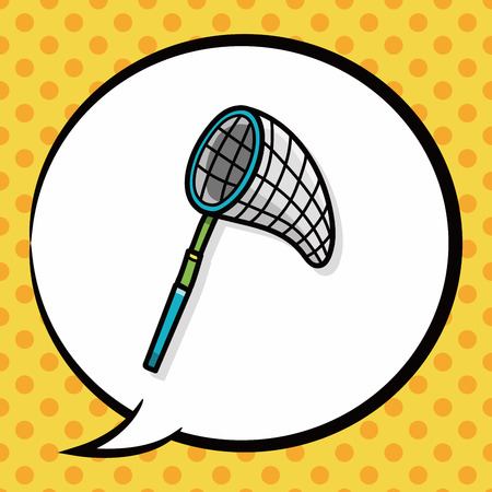 fishingnet: Fishing net doodle, speech bubble