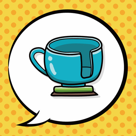 coffeecup: amusement park coffee-cup doodle, speech bubble