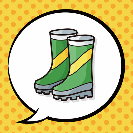 botas de lluvia: botas de lluvia garabato, la burbuja del discurso Vectores