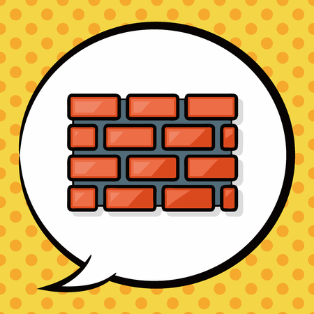 firewall: Firewall doodle, speech bubble Illustration