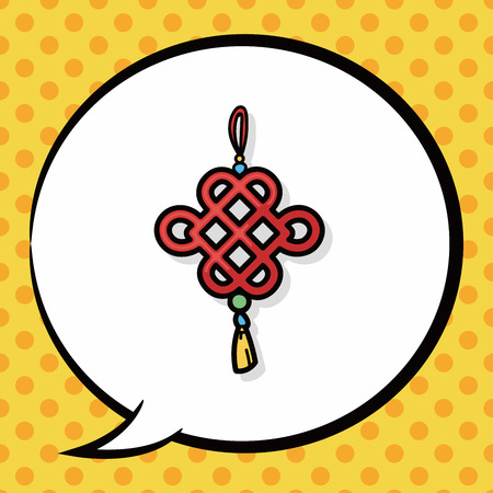 blown: Chinese New Year Ancient coins lucky pendant doodle, speech bubble