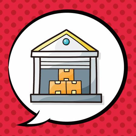 storehouse: Warehouse doodle, speech bubble